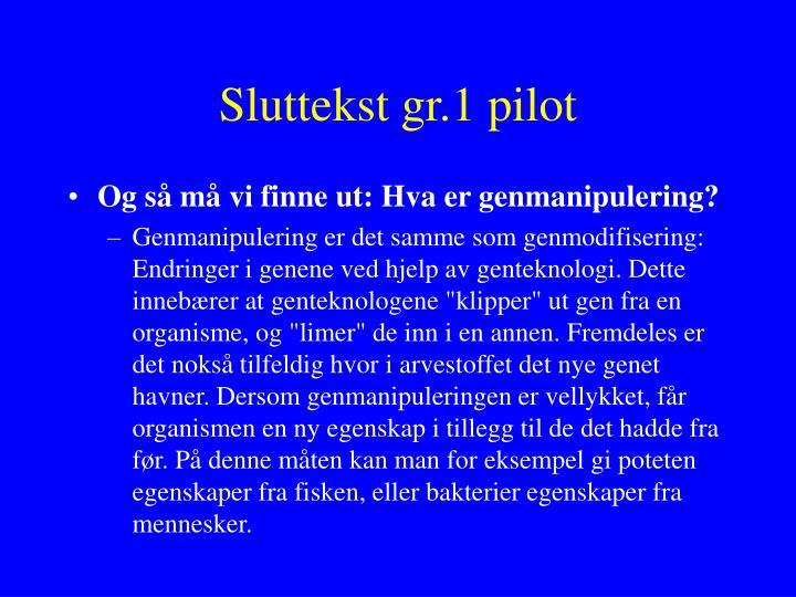 Sluttekst gr.1 pilot