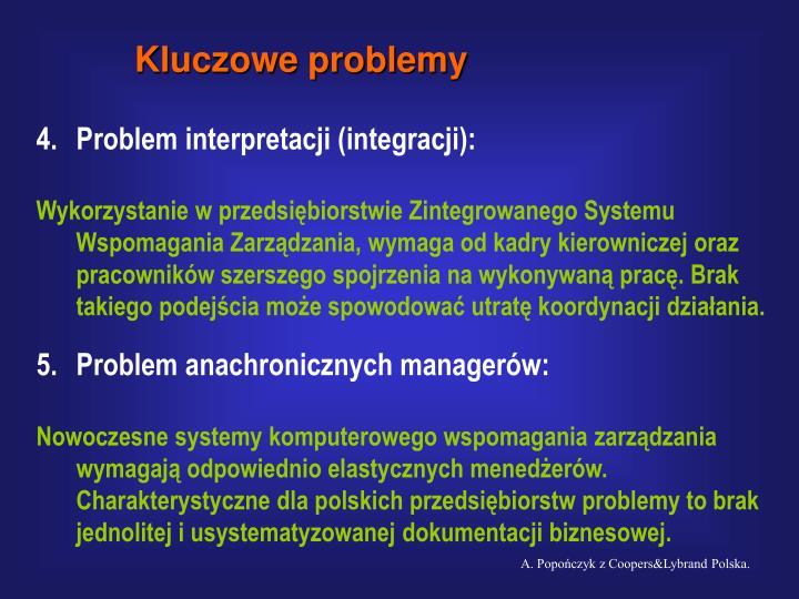 Kluczowe problemy
