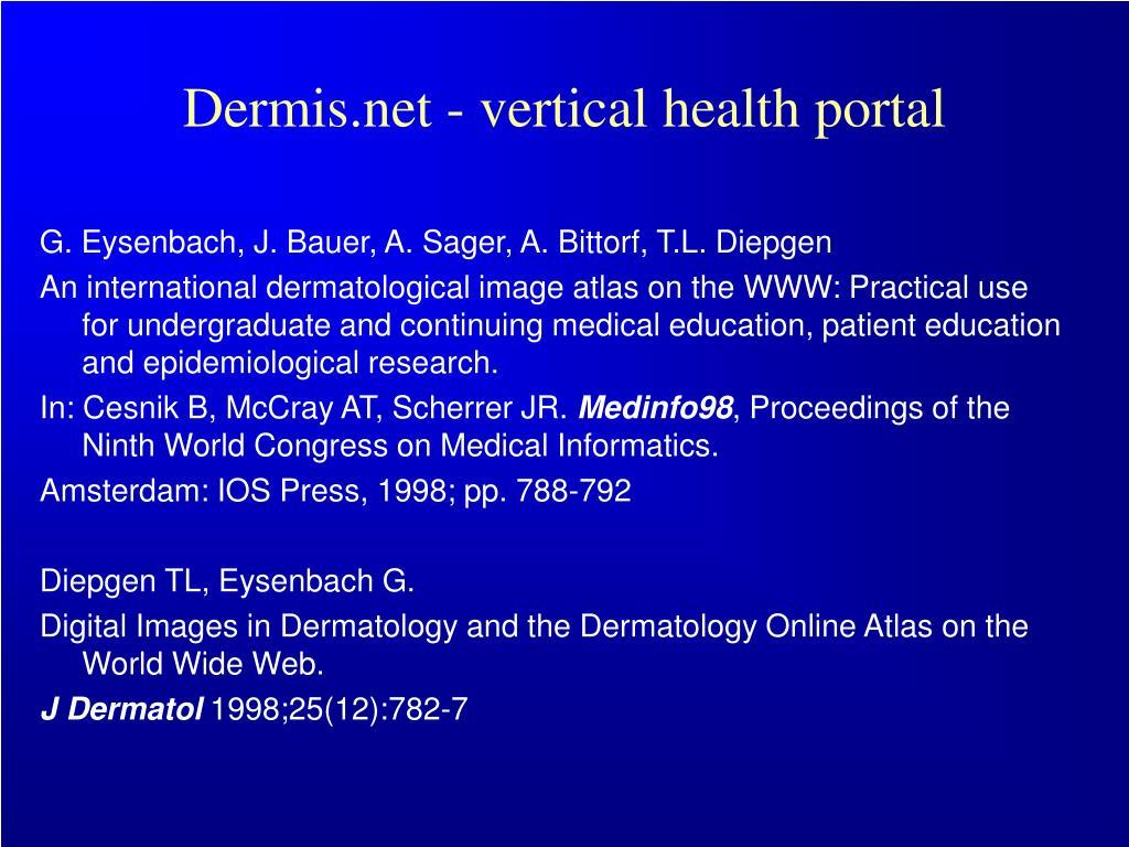 Dermis.net - vertical health portal