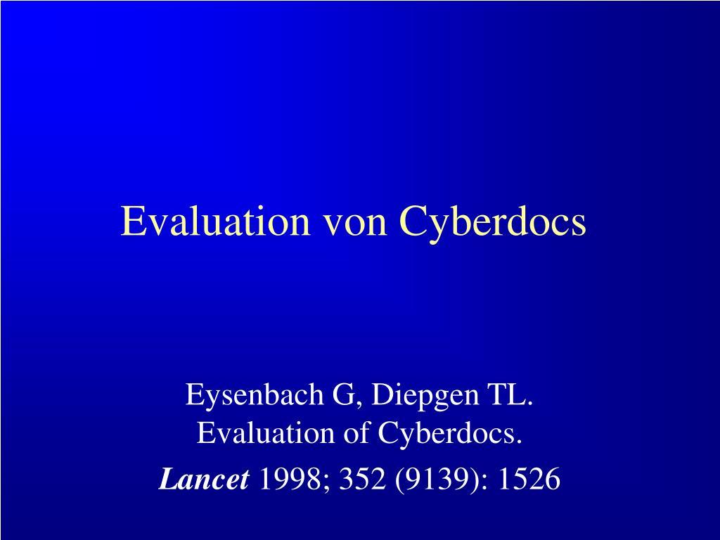 Evaluation von Cyberdocs