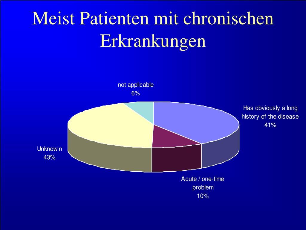 Meist Patienten mit chronischen Erkrankungen