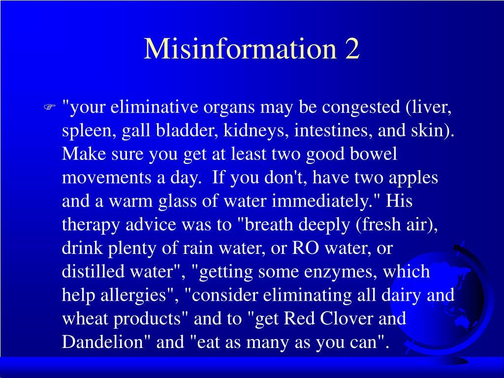 Misinformation 2
