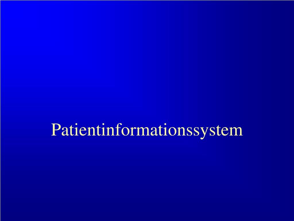 Patientinformationssystem