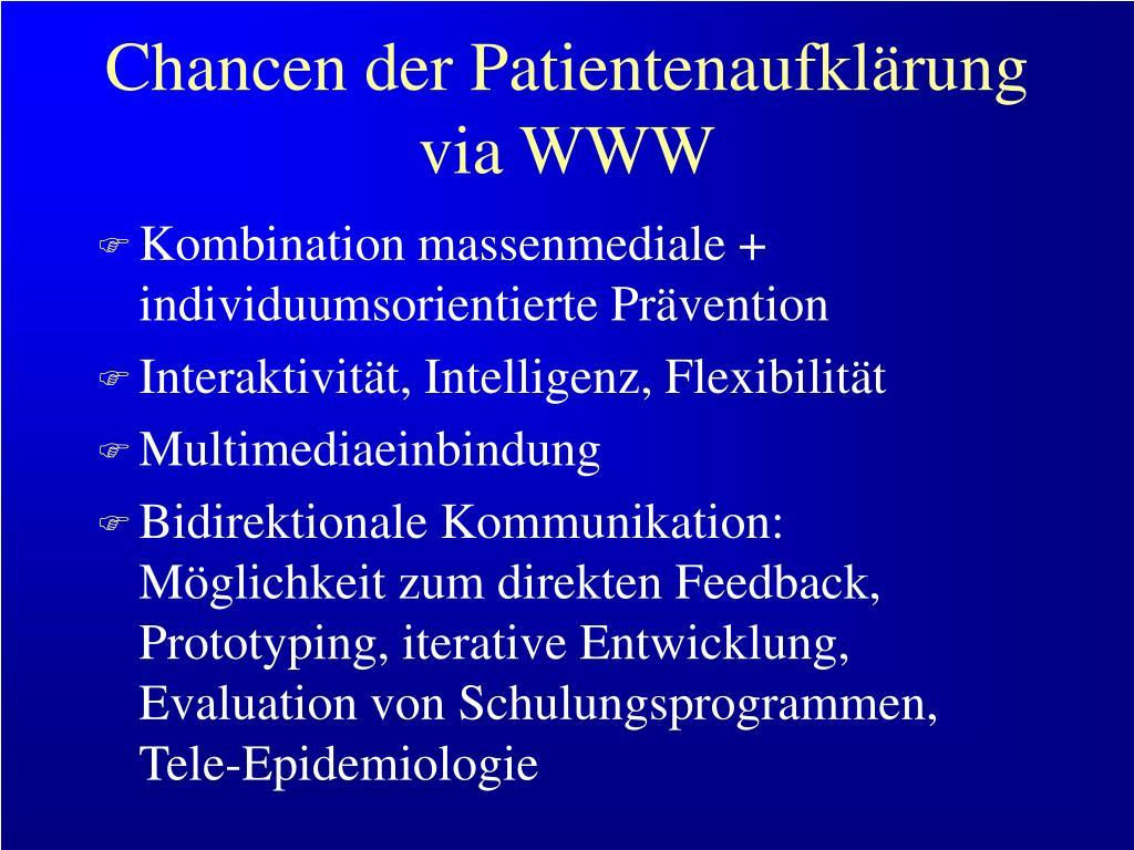 Chancen der Patientenaufklärung via WWW