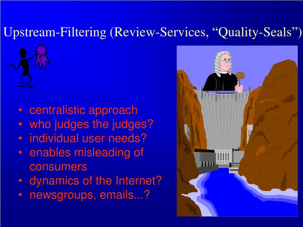 """Upstream-Filtering (Review-Services, """"Quality-Seals"""")"""