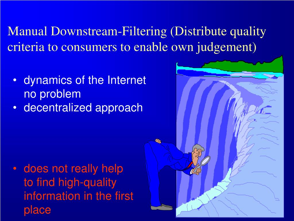 Manual Downstream-Filtering (Distribute quality criteria to consumers to enable own judgement)
