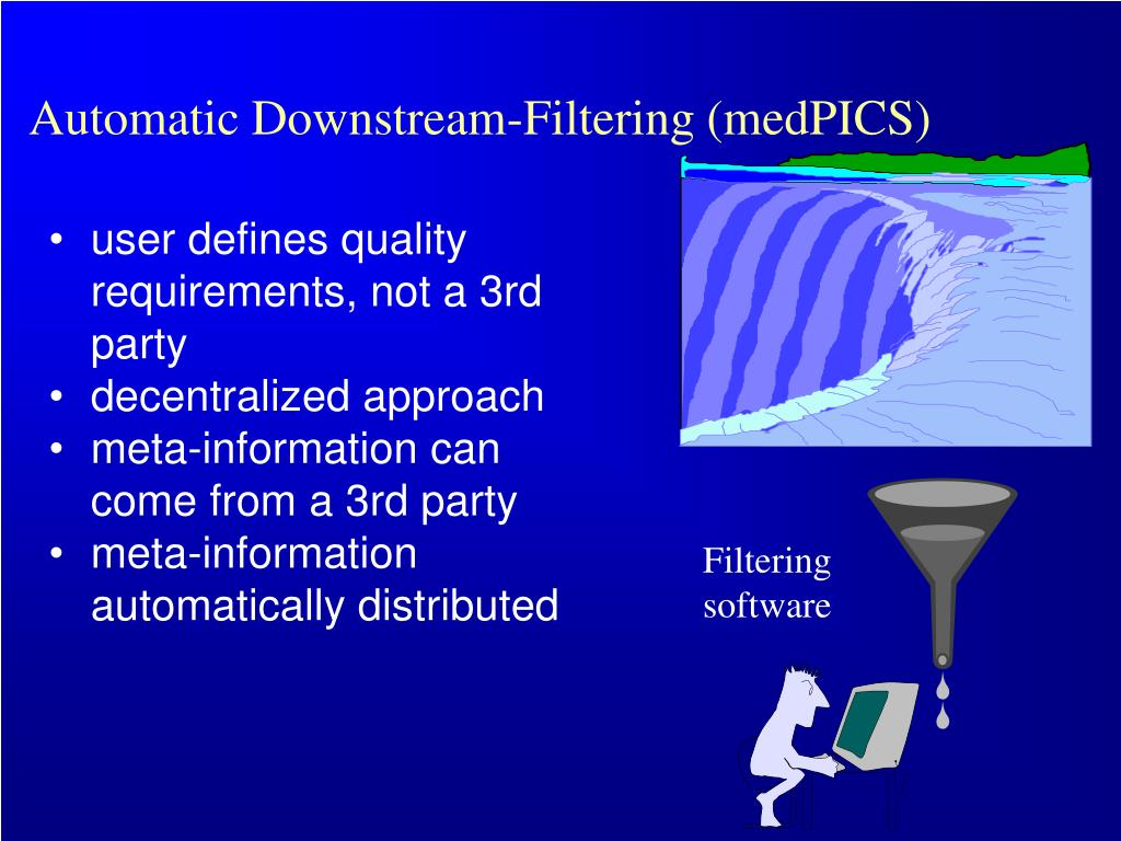 Automatic Downstream-Filtering (medPICS)