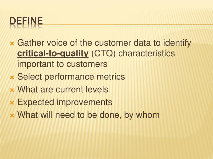 Gather voice of the customer data to identify
