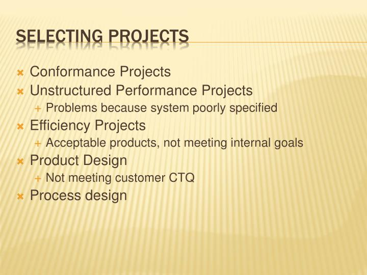 Conformance Projects