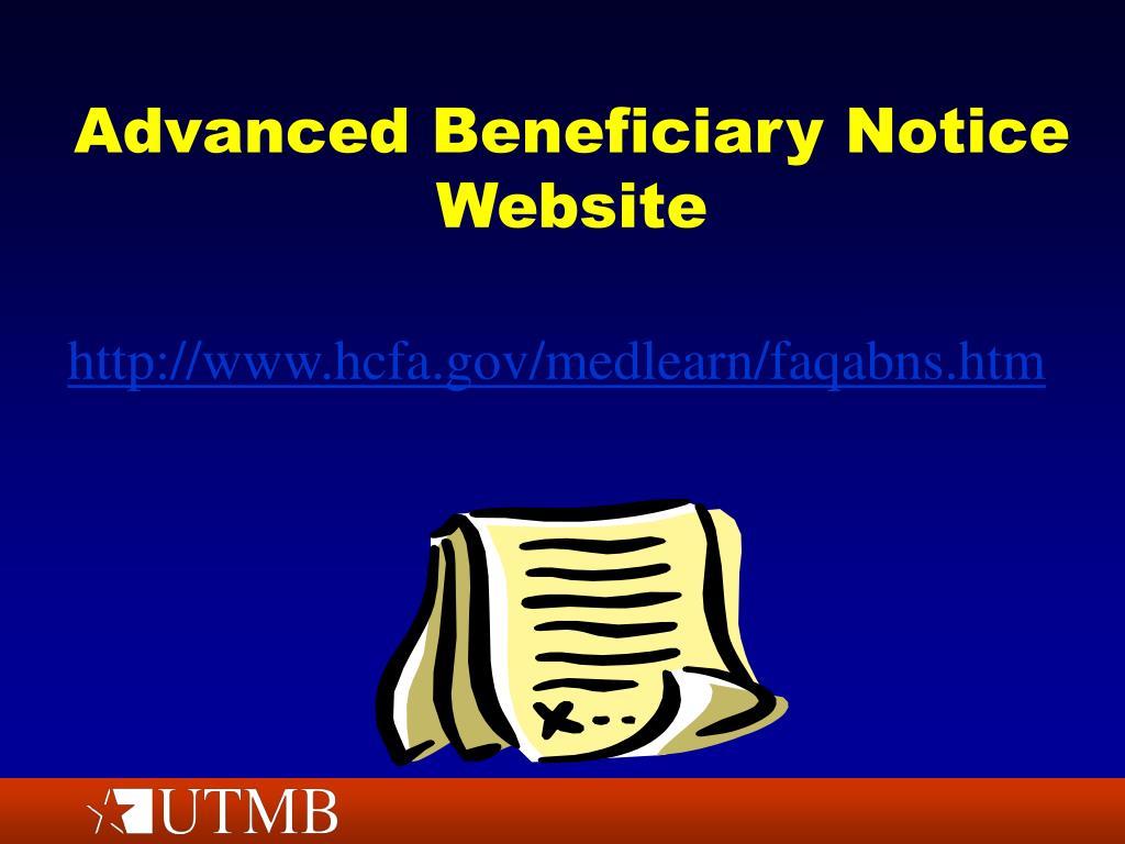 Advanced Beneficiary Notice Website
