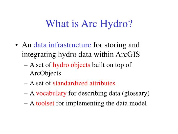 What is Arc Hydro?