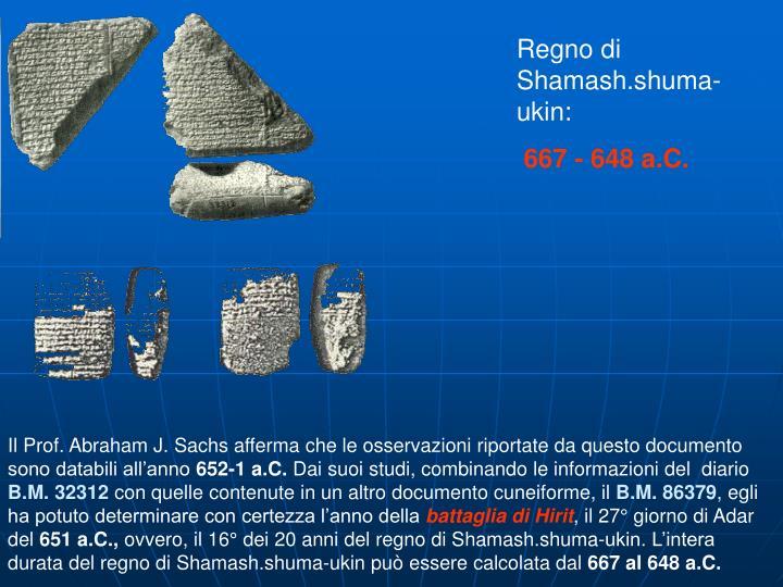 Regno di Shamash.shuma-ukin: