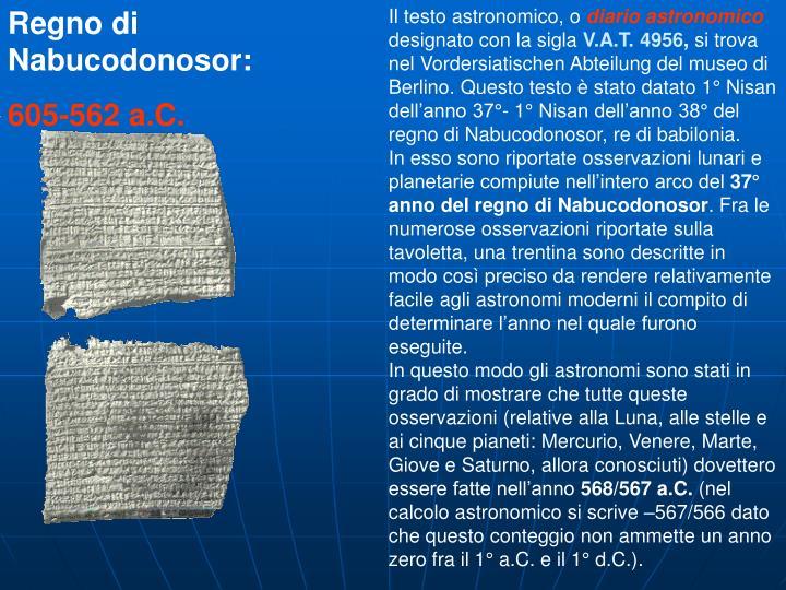 Regno di Nabucodonosor: