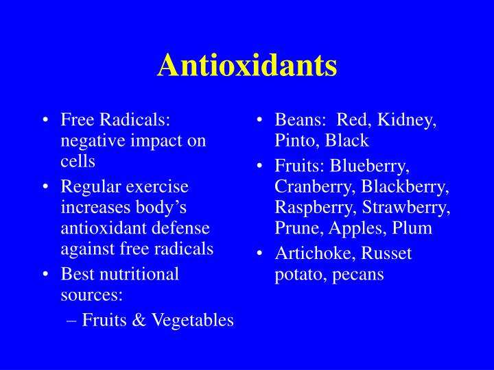 Free Radicals: negative impact on cells