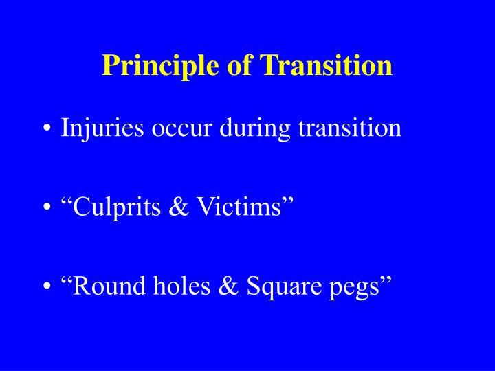 Principle of Transition