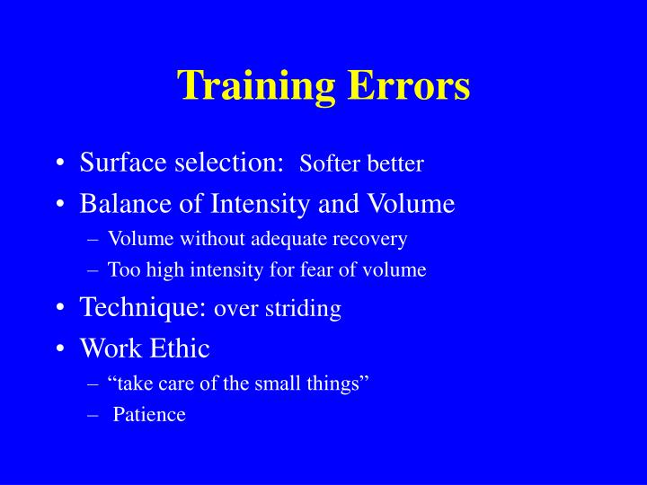 Training Errors