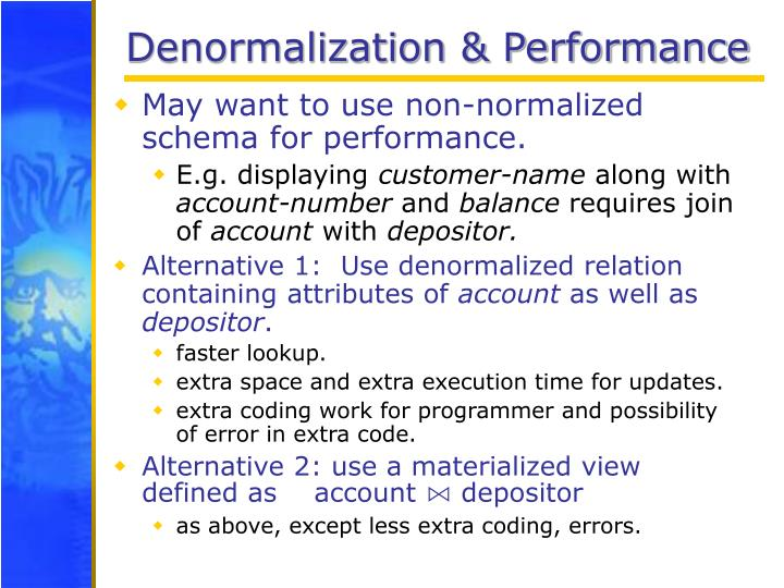 Denormalization & Performance