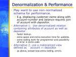 denormalization performance