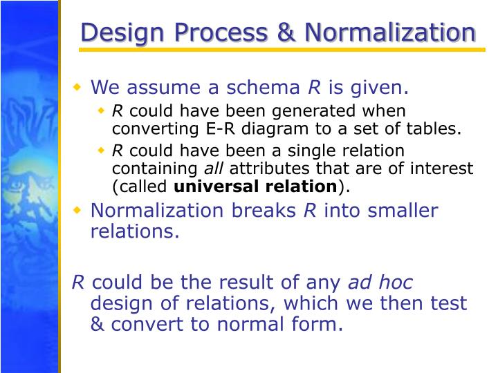 Design Process & Normalization