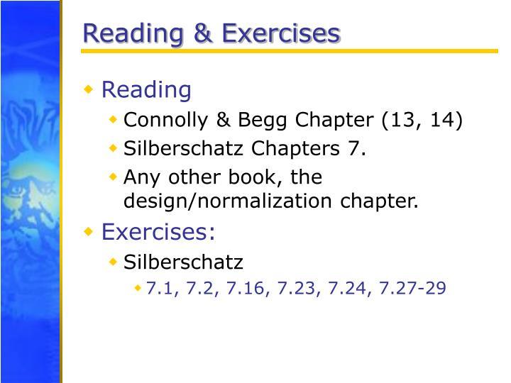 Reading & Exercises
