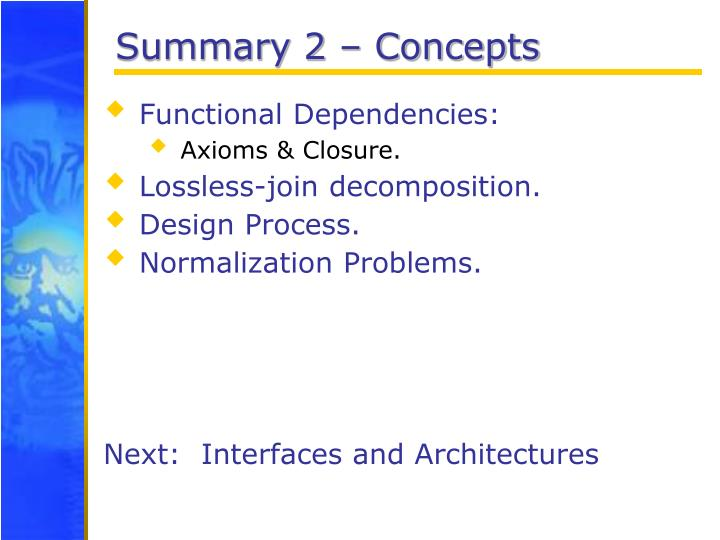 Summary 2 – Concepts