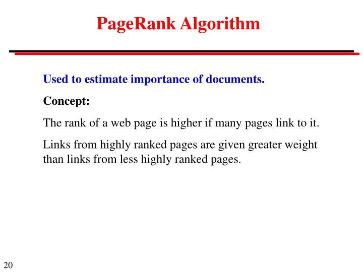 PageRank Algorithm