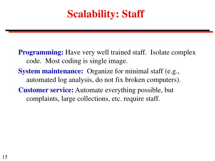 Scalability: Staff