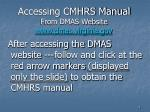 accessing cmhrs manual from dmas website www dmas virginia gov