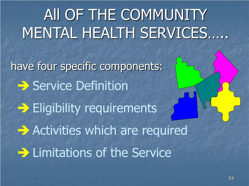 All OF THE COMMUNITY MENTAL HEALTH SERVICES…..