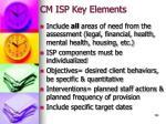 cm isp key elements
