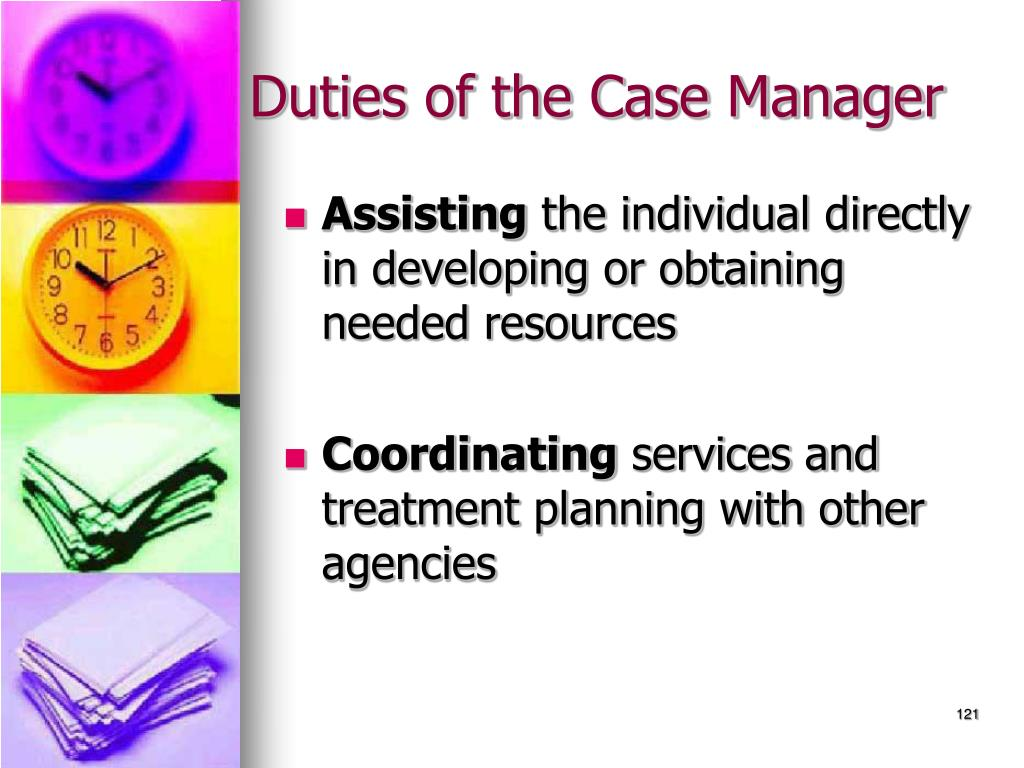 Duties of the Case Manager