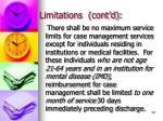 limitations cont d137