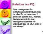 limitations cont d138