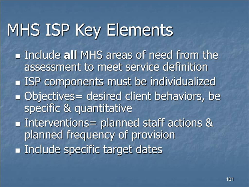 MHS ISP Key Elements