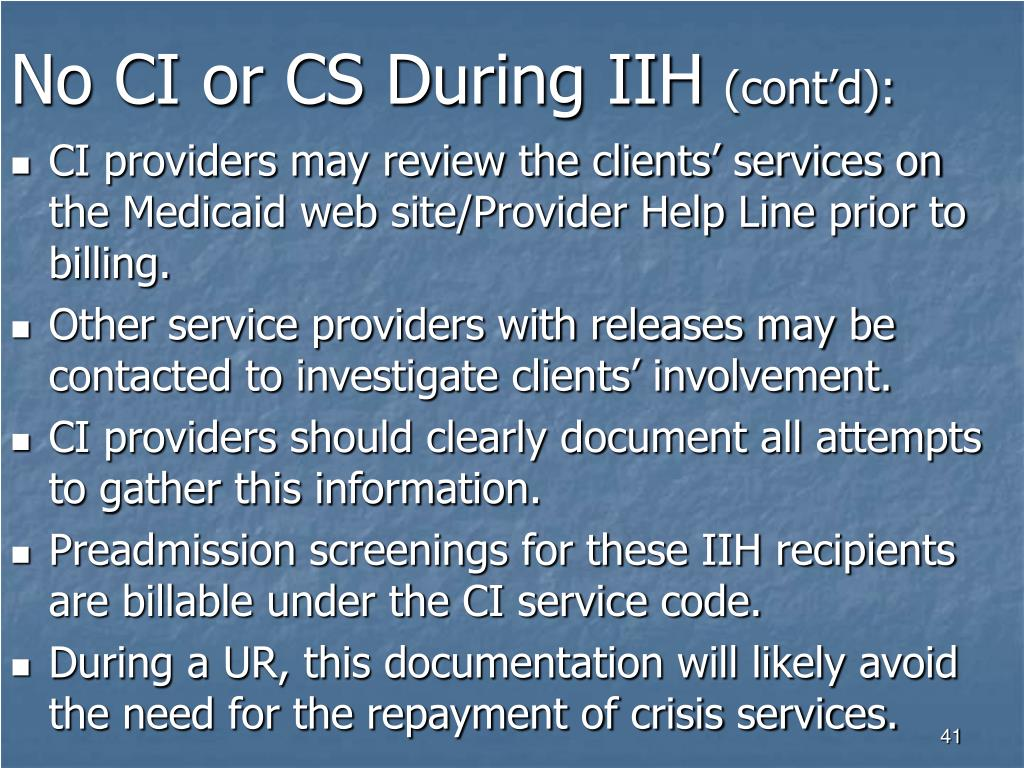 No CI or CS During IIH