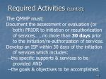 required activities cont d100