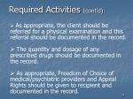required activities cont d34
