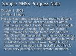 sample mhss progress note