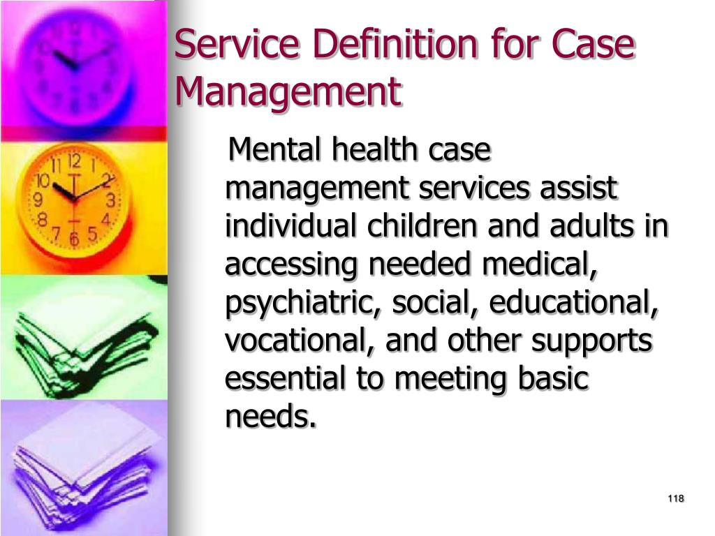 Service Definition for Case Management
