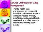 service definition for case management