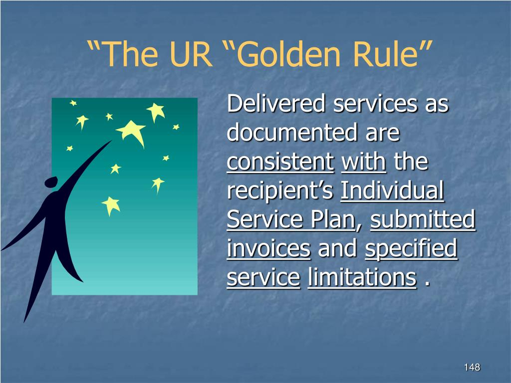 """The UR ""Golden Rule"""