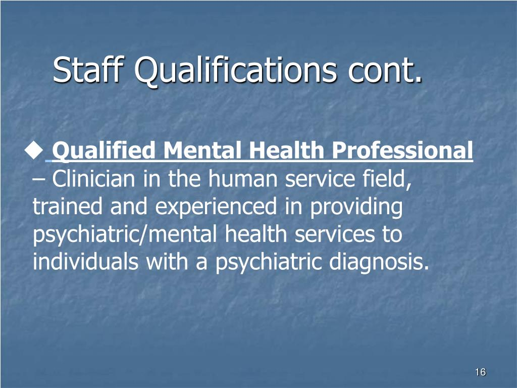 Staff Qualifications