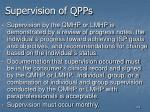 supervision of qpps