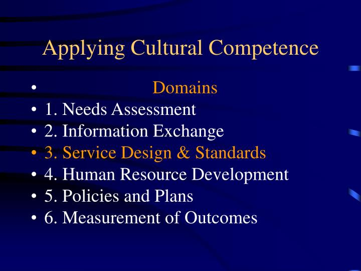 Applying Cultural Competence