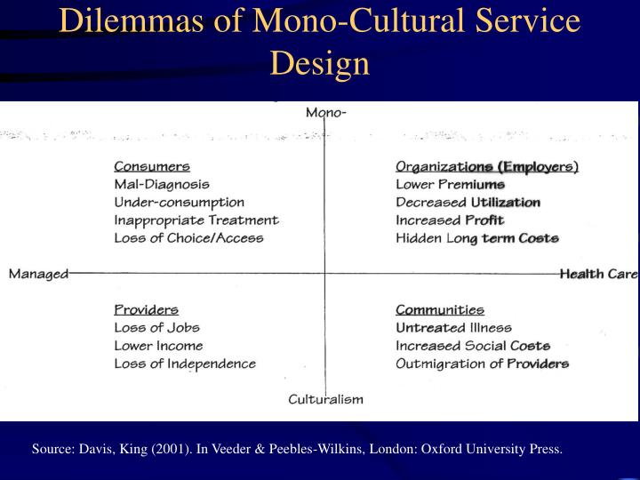 Dilemmas of Mono-Cultural Service Design