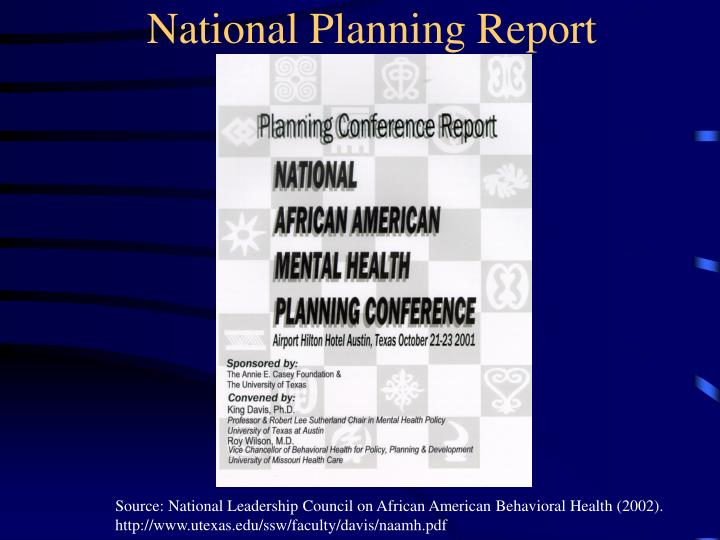 National Planning Report