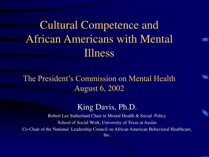 Cultural Competence and