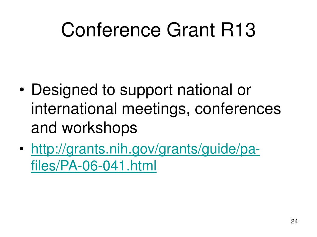 Conference Grant R13