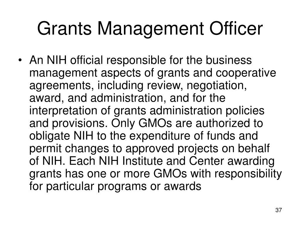 Grants Management Officer