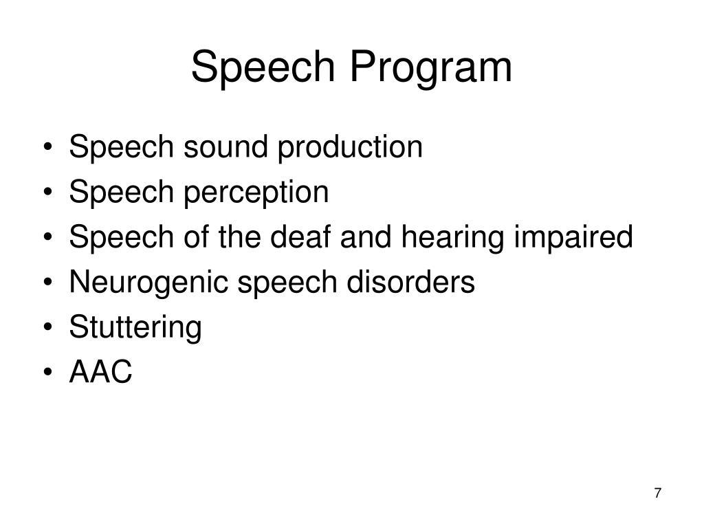 Speech Program